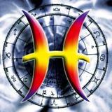 Sinal astrológico de pisces Fotografia de Stock