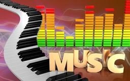 sinal audio da música do espectro 3d Foto de Stock Royalty Free