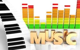 sinal audio da música do espectro 3d Imagem de Stock