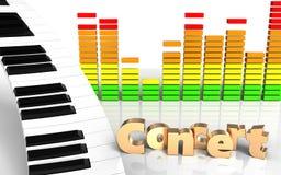 sinal audio do concerto do espectro 3d Imagens de Stock
