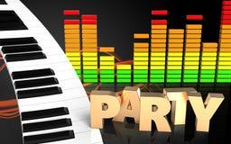 sinal audio do partido do espectro 3d Foto de Stock