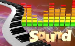 sinal audio 'do som' do espectro 3d Fotos de Stock Royalty Free