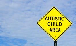 Sinal autístico da área da criança fotografia de stock royalty free