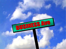 Sinal - avenida do negócio Imagem de Stock