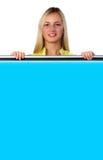 Sinal azul Fotos de Stock Royalty Free