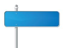 Sinal azul Fotografia de Stock