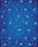 Sinal azul do teste padrão de Celts da harmonia, de ondas do floco de neve e de círculos Imagens de Stock Royalty Free