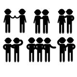 Sinal básico do ícone dos povos da postura do homem Fotos de Stock