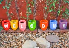Sinal bem-vindo Imagem de Stock