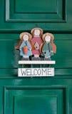 Sinal bem-vindo Fotografia de Stock
