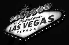 Sinal bem-vindo da cidade de Las Vegas Fotografia de Stock Royalty Free