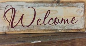 Sinal bem-vindo da palavra Fotografia de Stock