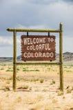 Sinal bem-vindo de Colorado Fotografia de Stock Royalty Free
