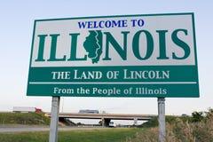 Sinal bem-vindo de Illinois Imagens de Stock