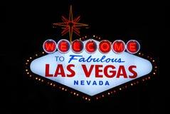 Sinal bem-vindo de Las Vegas Imagem de Stock Royalty Free