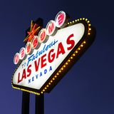 Sinal bem-vindo de Las Vegas. Fotos de Stock Royalty Free