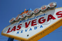 Sinal bem-vindo de Las Vegas- Foto de Stock