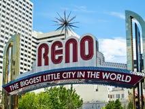 Sinal bem-vindo de Reno Fotos de Stock Royalty Free