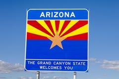 Sinal bem-vindo do Arizona imagem de stock royalty free