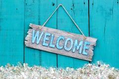 Sinal bem-vindo do feriado Imagens de Stock Royalty Free