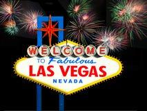 Sinal bem-vindo famoso de Las Vegas Fotografia de Stock