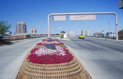 Sinal bem-vindo na entrada a Albuquerque, nanômetro Imagem de Stock