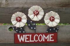 Sinal bem-vindo referente à cultura norte-americana Fotos de Stock Royalty Free