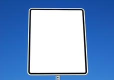 Sinal branco em branco Imagens de Stock