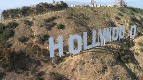 Sinal cênico de hollywood dos montes vídeos de arquivo