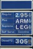 Sinal cómico do gás Fotografia de Stock Royalty Free