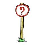 sinal cômico do ponto de interrogação dos desenhos animados Imagens de Stock Royalty Free