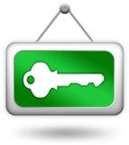 Sinal chave do início de uma sessão Imagem de Stock Royalty Free