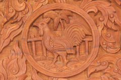 Sinal chinês do animal do zodíaco do galo Foto de Stock