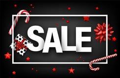 Sinal cinzento da venda com presentes e doces Fotos de Stock