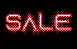 Sinal claro do fulgor de néon vermelho da venda ilustração royalty free