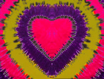 Sinal colorido do coração fotografia de stock royalty free