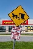 Sinal com erros do estacionamento de Amish fotos de stock royalty free