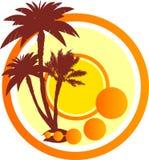 Sinal com palmeiras ilustração royalty free