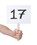 Sinal com um número, 17 Foto de Stock Royalty Free