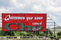 Sinal comemorativo de Fidel Castro e de Che Guevara Imagem de Stock