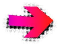 Sinal cor-de-rosa da seta no fundo branco Foto de Stock Royalty Free