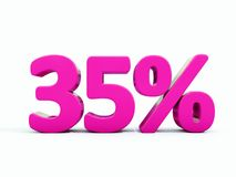 Sinal cor-de-rosa de 35 por cento ilustração do vetor