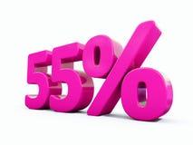 Sinal cor-de-rosa de 55 por cento ilustração stock