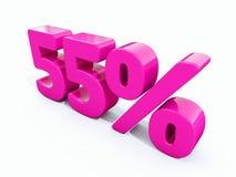 Sinal cor-de-rosa de 55 por cento ilustração do vetor