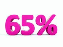 Sinal cor-de-rosa de 65 por cento Imagem de Stock Royalty Free