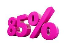 Sinal cor-de-rosa de 85 por cento ilustração stock