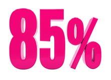 Sinal cor-de-rosa de 85 por cento ilustração do vetor