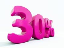 Sinal cor-de-rosa de 30 por cento Fotografia de Stock