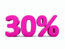 Sinal cor-de-rosa de 30 por cento Imagens de Stock