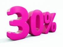 Sinal cor-de-rosa de 30 por cento ilustração do vetor
